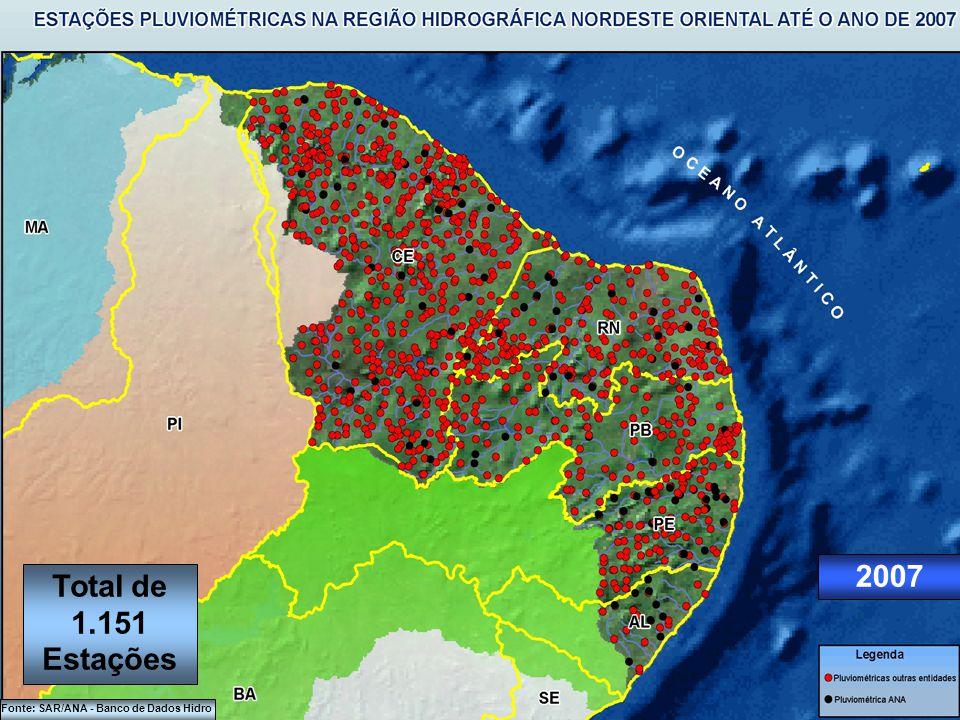 2005 Fonte: SAR/ANA - Banco de Dados Hidro