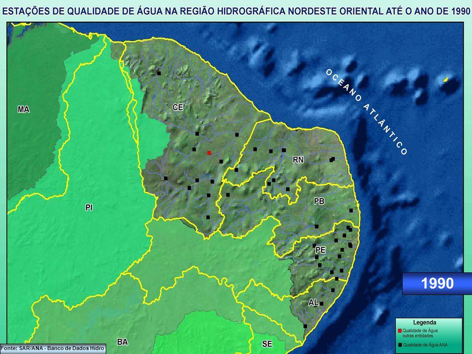 1980 Fonte: SAR/ANA - Banco de Dados Hidro