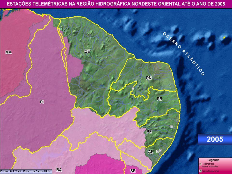 2004 Fonte: SAR/ANA - Banco de Dados Hidro