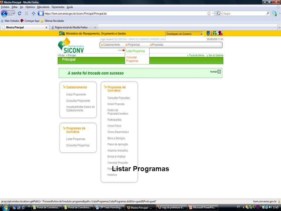 Listar Programas
