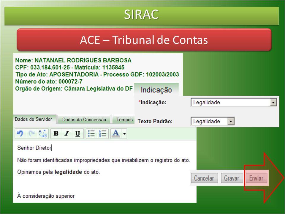 SIRACSIRAC ACE – Tribunal de Contas