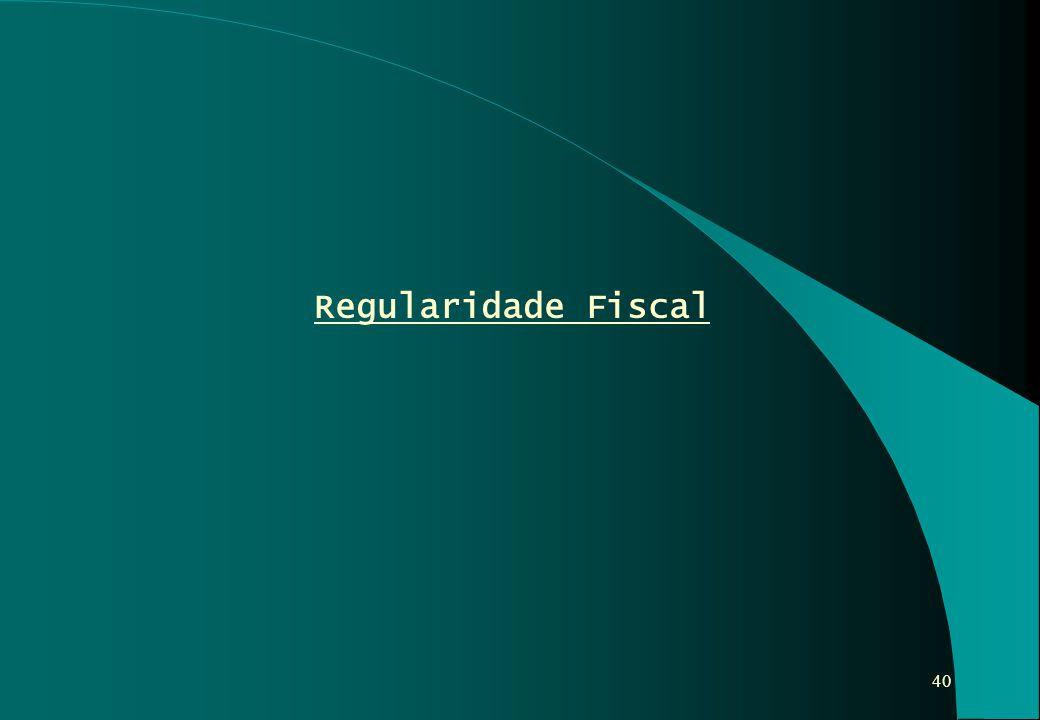 40 Regularidade Fiscal