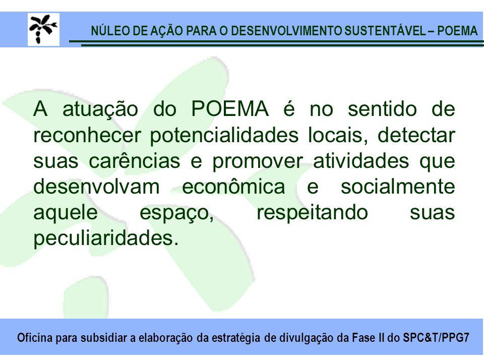 NÚLEO DE AÇÃO PARA O DESENVOLVIMENTO SUSTENTÁVEL – POEMA Oficina para subsidiar a elaboração da estratégia de divulgação da Fase II do SPC&T/PPG7 A at