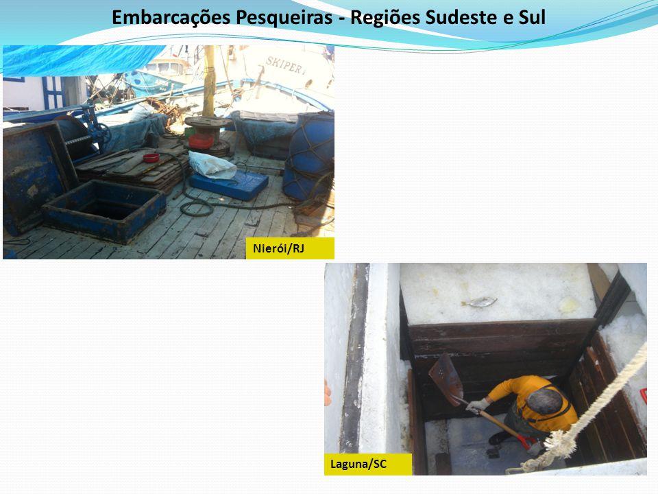 Embarcações Pesqueiras - Regiões Sudeste e Sul Laguna/SC Nierói/RJ