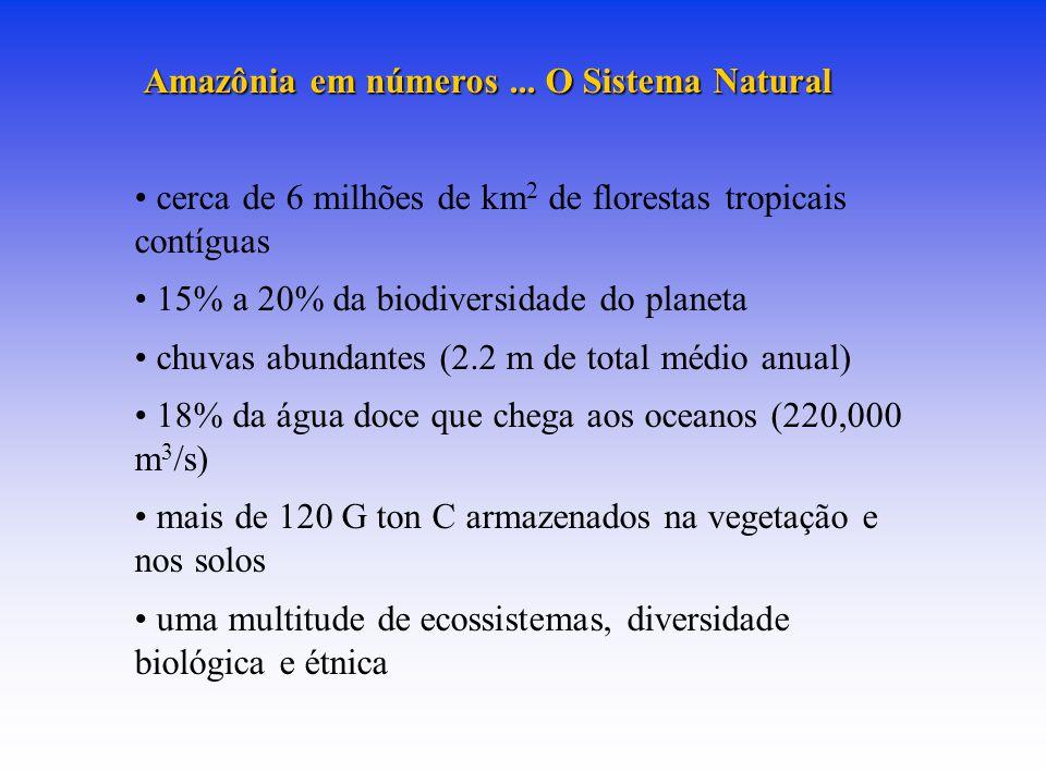 Amazônia em números...O Sistema Natural Amazônia em números...