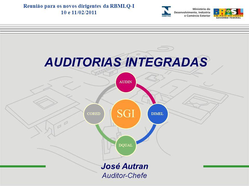 José Autran Auditor-Chefe AUDITORIAS INTEGRADAS SGI AUDINDIMELDQUALCORED Reunião para os novos dirigentes da RBMLQ-I 10 e 11/02/2011