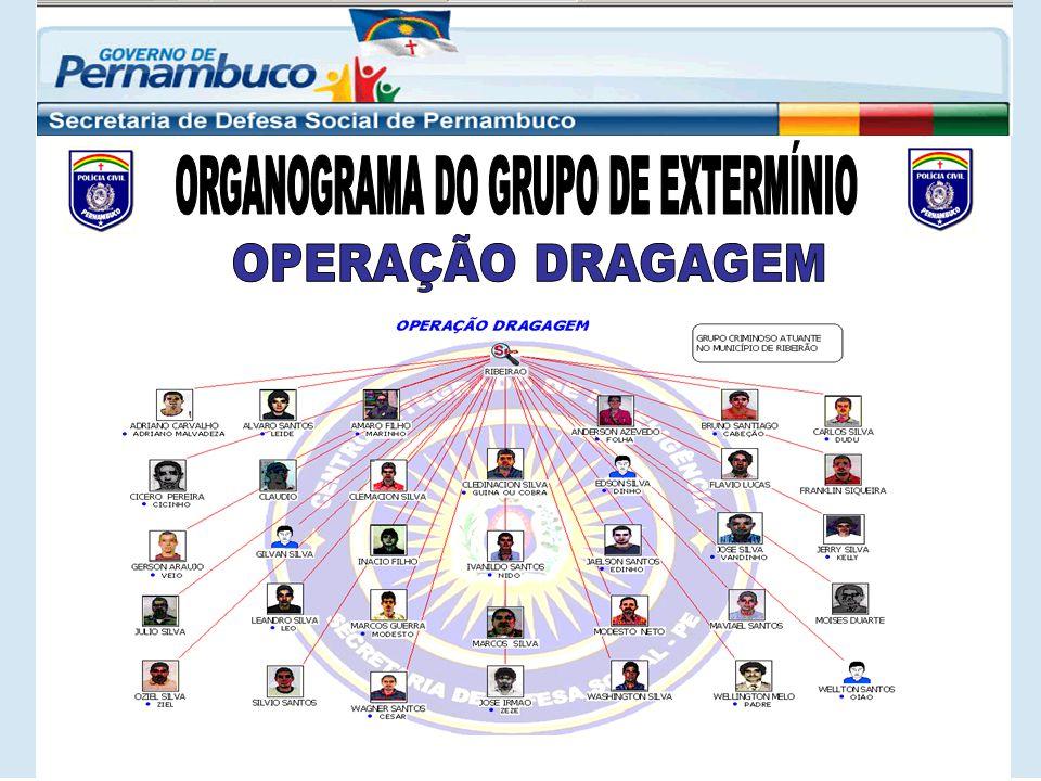 Núcleo do grupo de extermínio, tem ascensão sobre os demais; Os quatro primeiros são Guardas Municipais de Ribeirão; Executam homicídios, alugam armas e servem de intermediários em crimes de pistolagem.