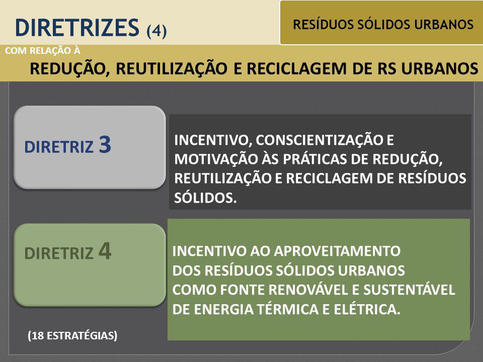 COM RELAÇÃO À UNIVERSALIZAÇÃO DOS SERVIÇOS DE LIMPEZA PÚBLICA DIRETRIZES (1) RESÍDUOS SÓLIDOS URBANOS ACESSO DA SOCIEDADE AOS SERVIÇOS DE LIMPEZA PÚBLICA.
