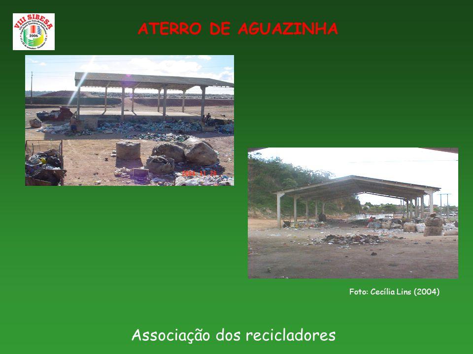 Associação dos recicladores ATERRO DE AGUAZINHA Foto: Cecília Lins (2004)