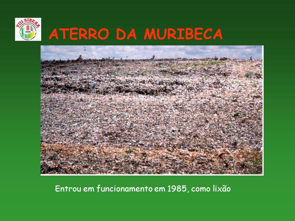 Entrou em funcionamento em 1985, como lixão ATERRO DA MURIBECA