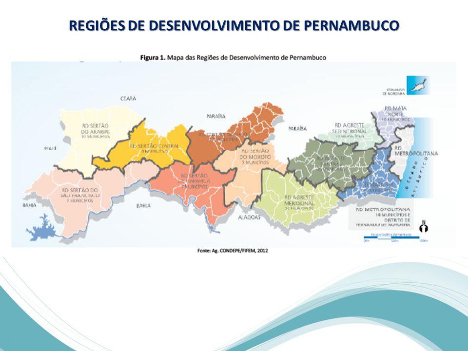 REGIÕES DE DESENVOLVIMENTO DE PERNAMBUCO