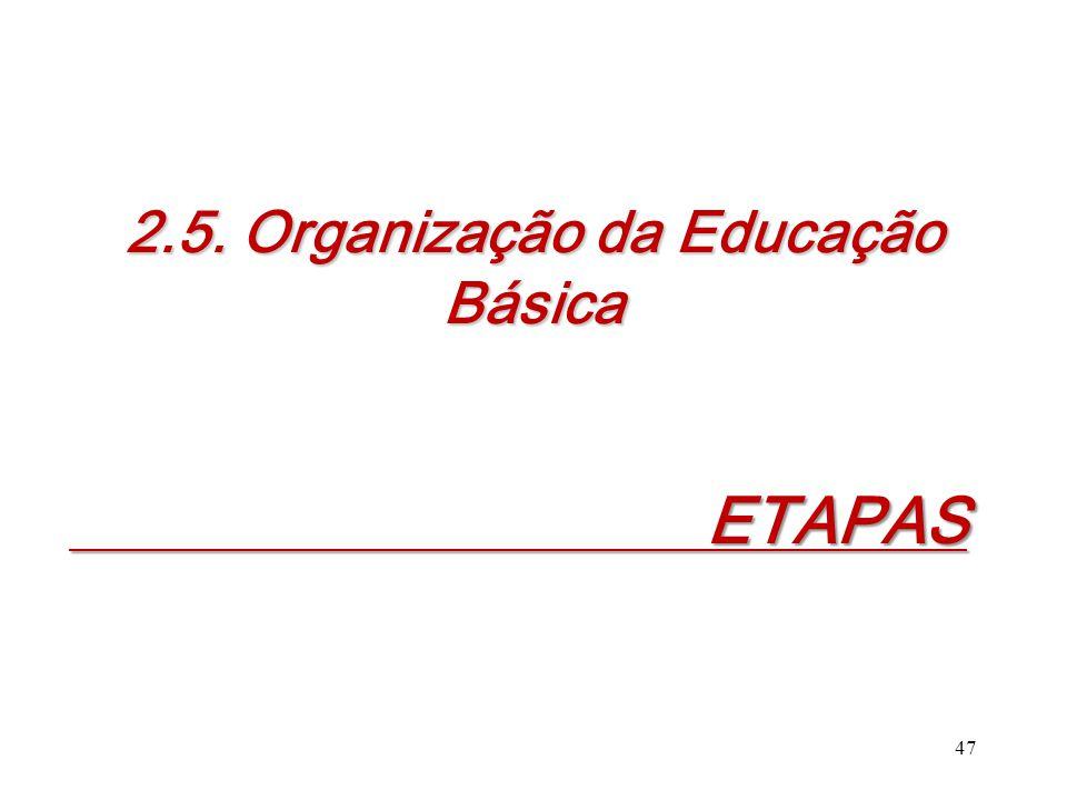 2.5. Organização da Educação Básica ETAPAS ETAPAS 47