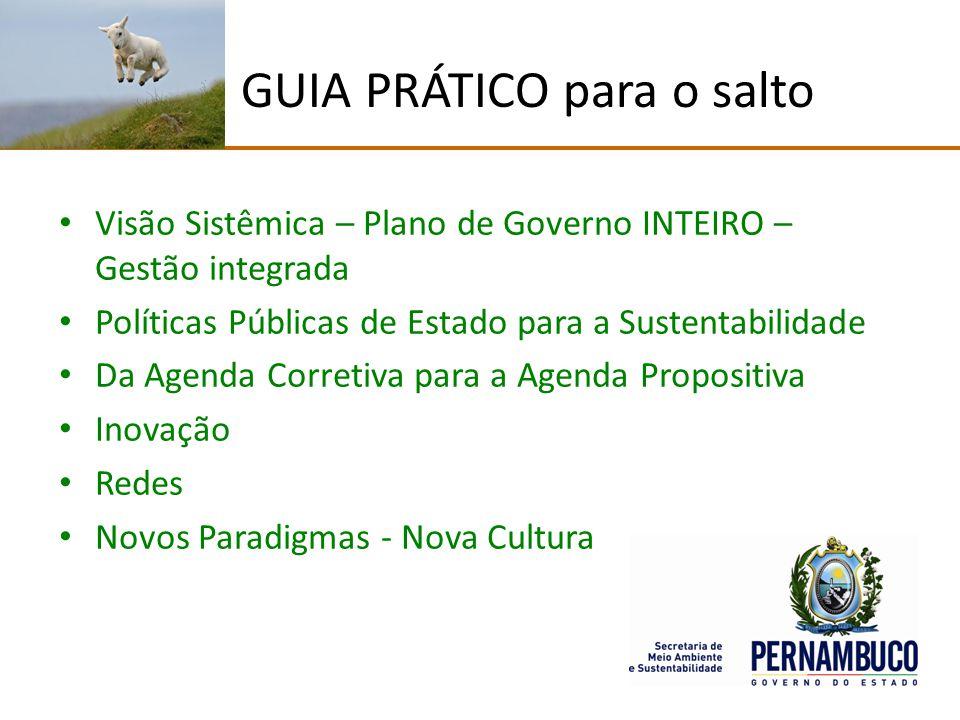 GUIA PRÁTICO para o salto Visão Sistêmica – Plano de Governo INTEIRO – Gestão integrada Políticas Públicas de Estado para a Sustentabilidade Da Agenda