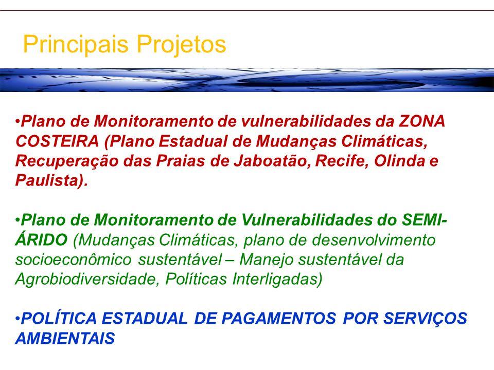 Plano de Monitoramento de vulnerabilidades da ZONA COSTEIRA (Plano Estadual de Mudanças Climáticas, Recuperação das Praias de Jaboatão, Recife, Olinda