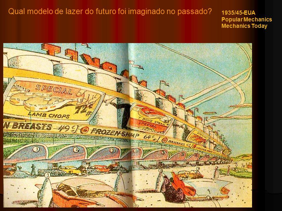 Qual modelo de lazer do futuro foi imaginado no passado? 1935/45-EUA Popular Mechanics Mechanics Today