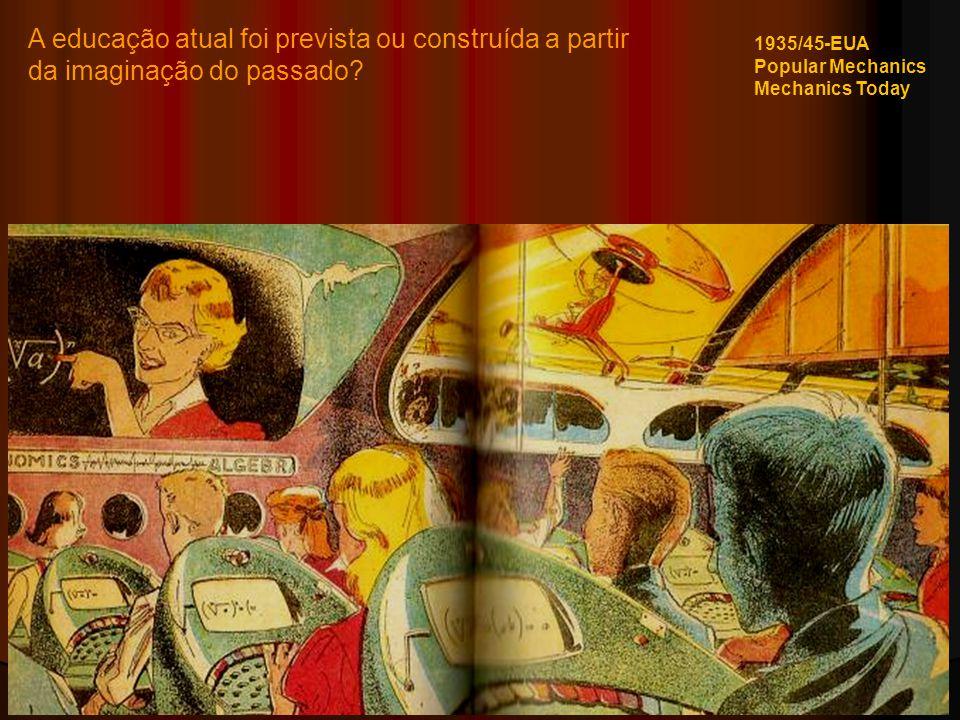 A educação atual foi prevista ou construída a partir da imaginação do passado? 1935/45-EUA Popular Mechanics Mechanics Today