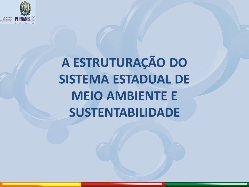 A ESTRUTURAÇÃO DO SISTEMA ESTADUAL DE MEIO AMBIENTE E SUSTENTABILIDADE