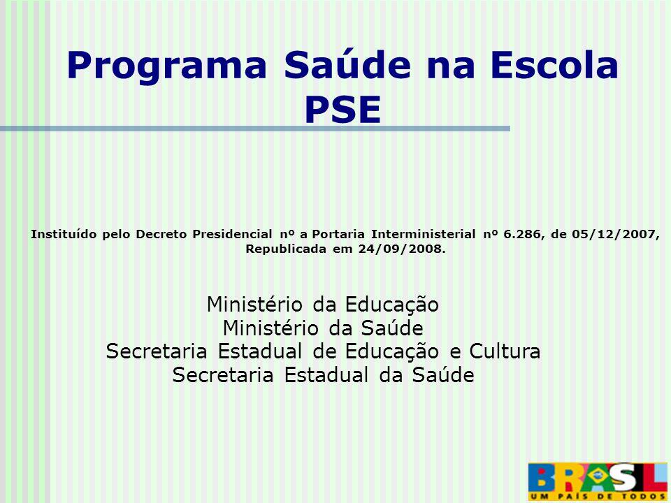 Instituído pelo Decreto Presidencial nº a Portaria Interministerial nº 6.286, de 05/12/2007, Republicada em 24/09/2008.