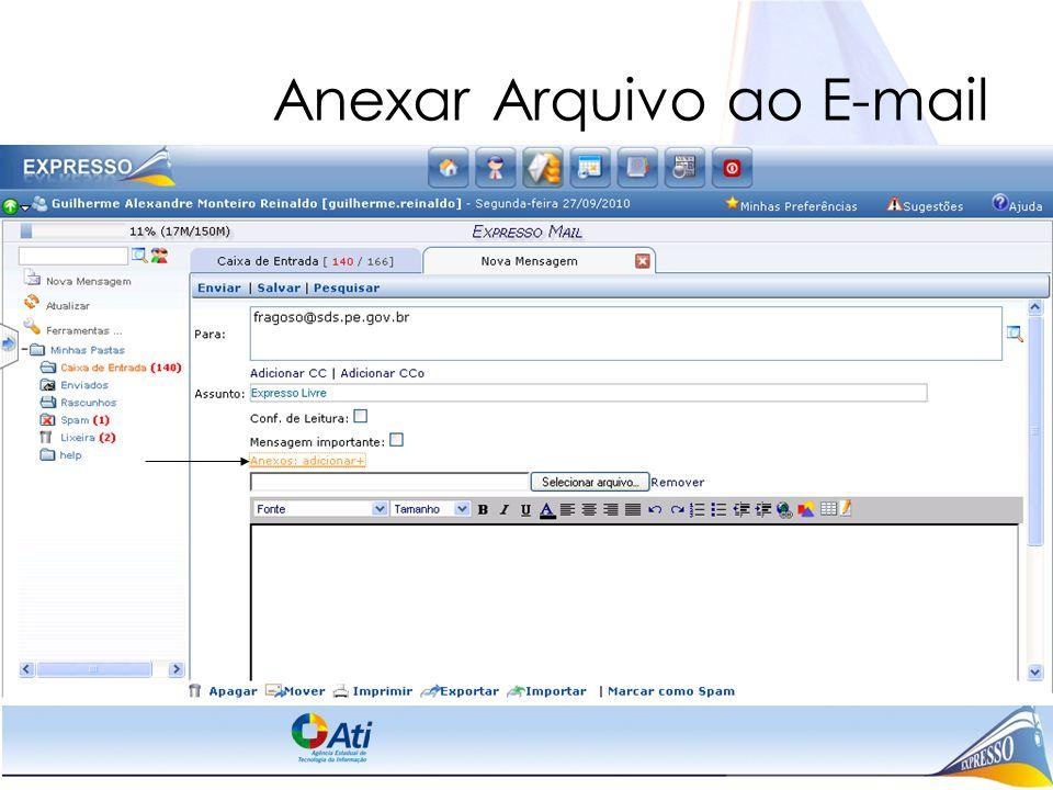 Anexar Arquivo ao E-mail