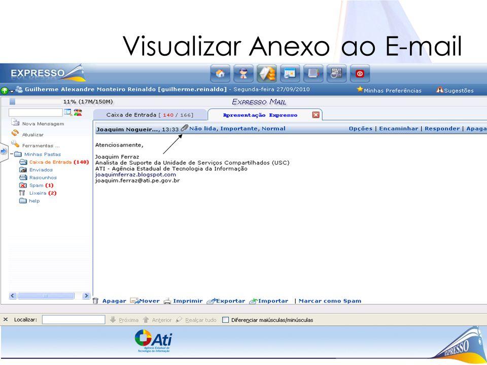 Visualizar Anexo ao E-mail