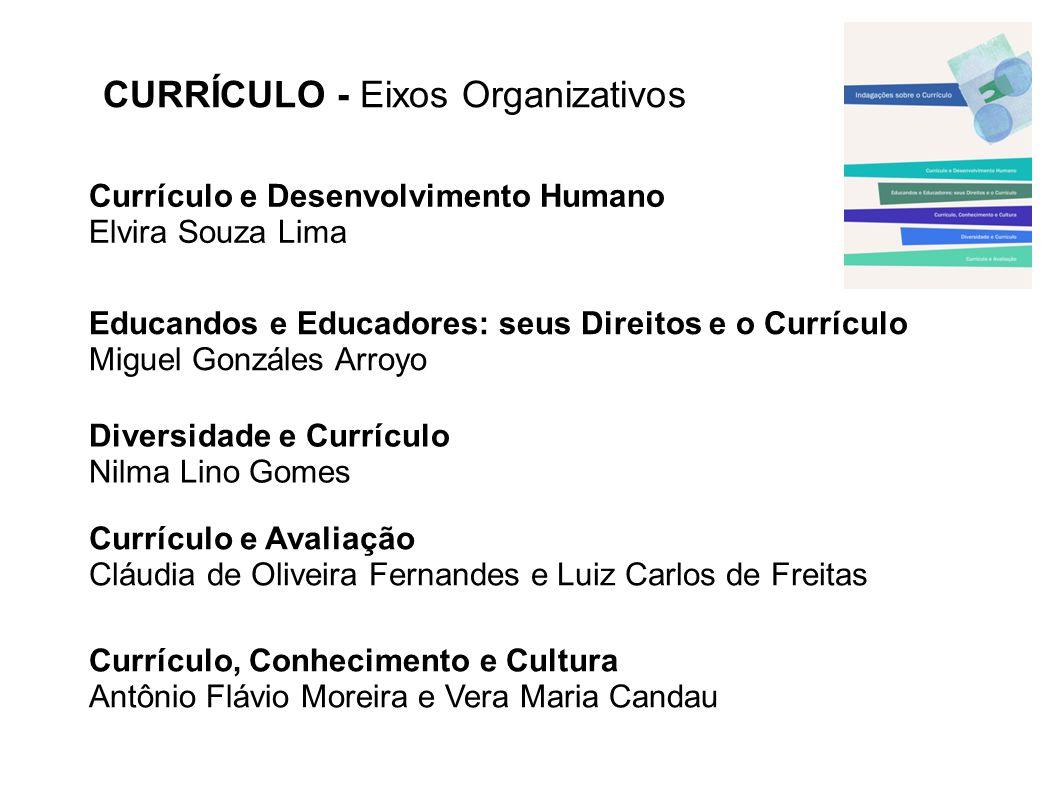 CURRÍCULO - Eixos Organizativos Currículo, Conhecimento e Cultura Antônio Flávio Moreira e Vera Maria Candau Educandos e Educadores: seus Direitos e o