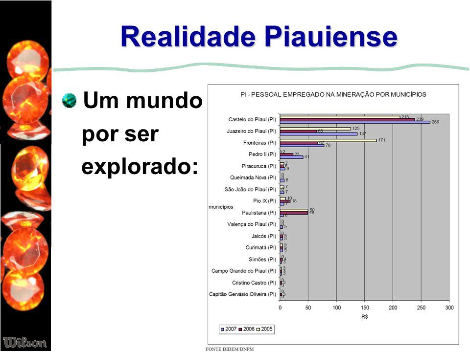 Duas certezas O Piauí oferece grandes perspectivas no setor mineral Os investidores têm grandes oportunidades