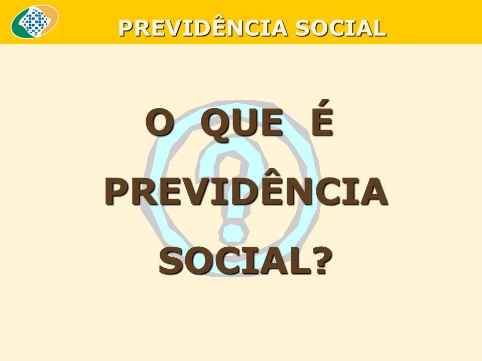 O QUE É PREVIDÊNCIA PREVIDÊNCIA SOCIAL? SOCIAL? PREVIDÊNCIA SOCIAL
