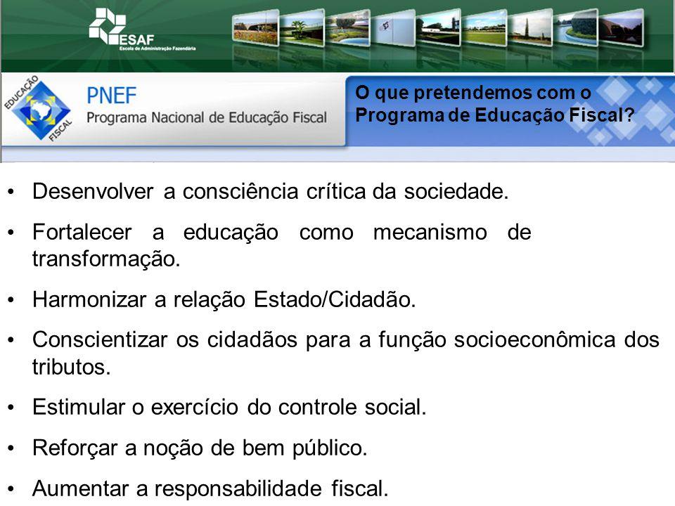 Desenvolver a consciência crítica da sociedade.