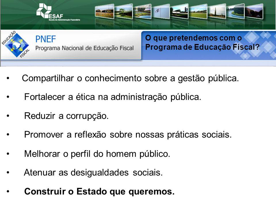 Compartilhar o conhecimento sobre a gestão pública.