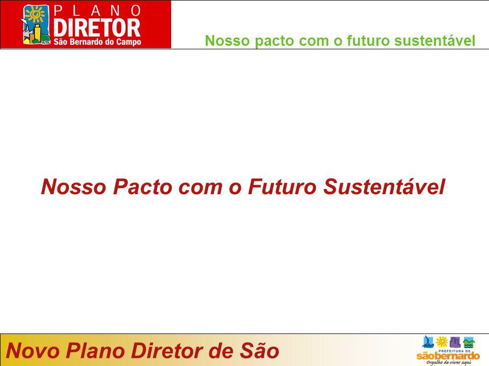 Nosso pacto com o futuro sustentável Nosso Pacto com o Futuro Sustentável Novo Plano Diretor de São Bernardo