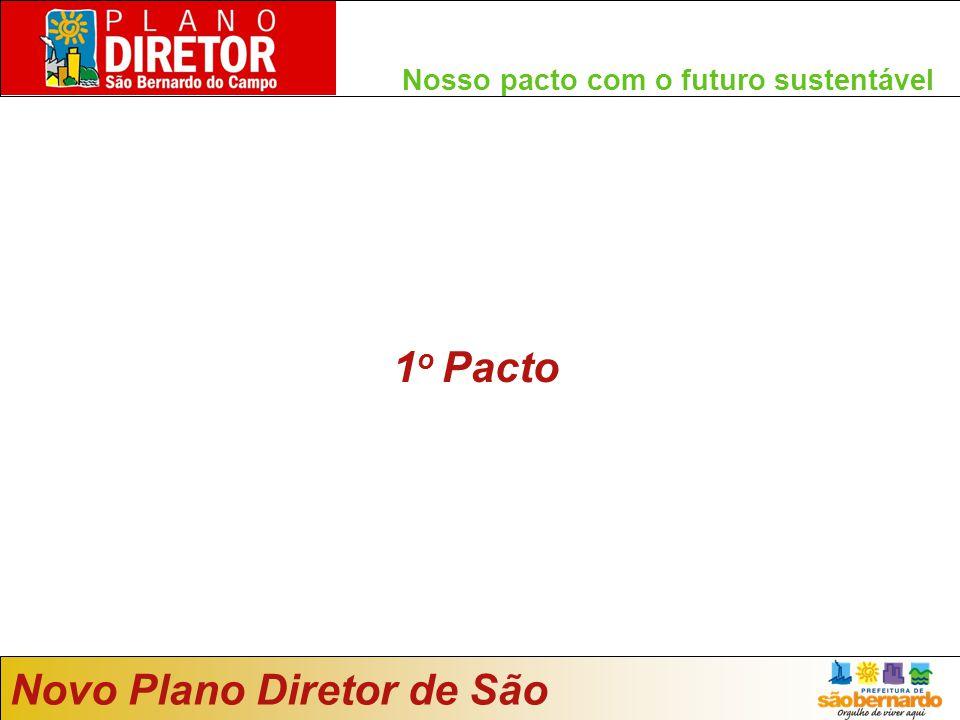 Nosso pacto com o futuro sustentável 1 o Pacto Novo Plano Diretor de São Bernardo