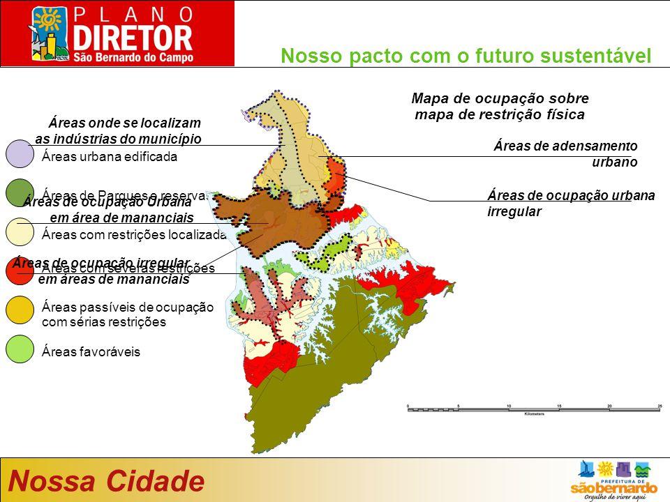 Nosso pacto com o futuro sustentável Mapa de uso do solo da Emplasa 2005 Áreas com restrições localizadas Áreas de Parques e reservas Áreas urbana edi