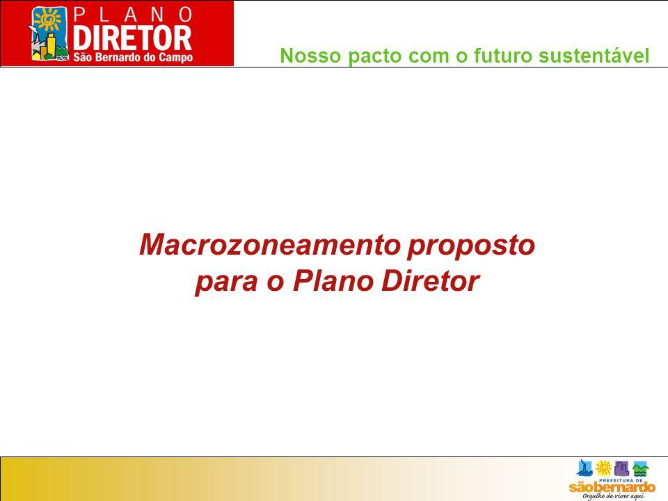 Nosso pacto com o futuro sustentável Macrozoneamento proposto para o Plano Diretor