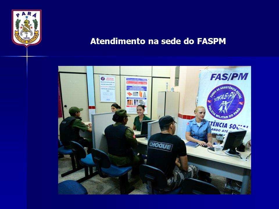Atendimento na sede do FASPM