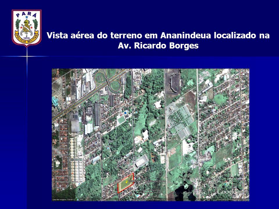 Vista aérea do terreno em Ananindeua localizado na Av. Ricardo Borges