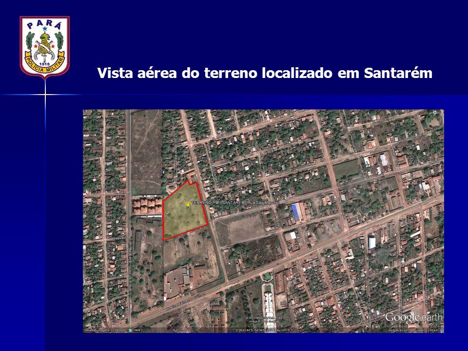 Vista aérea do terreno localizado em Santarém