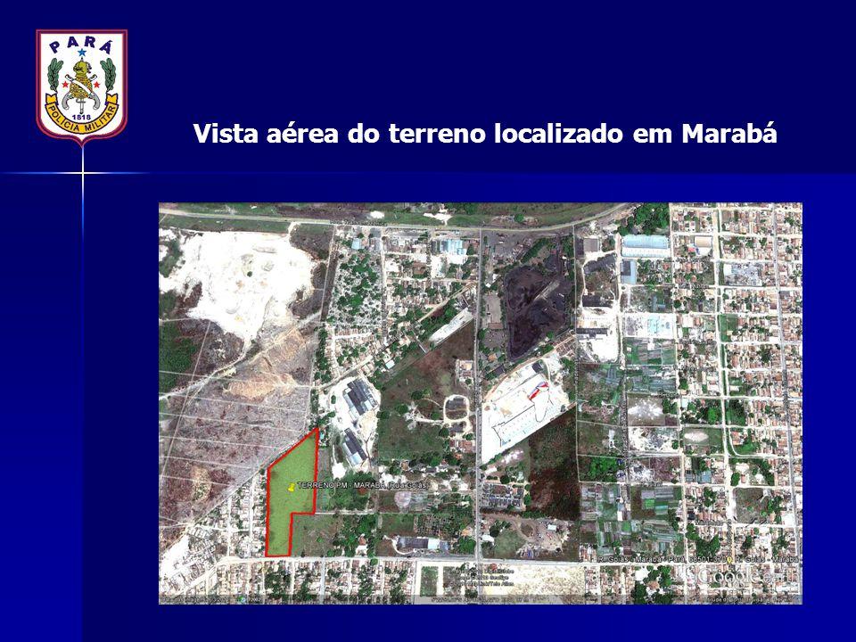 Vista aérea do terreno localizado em Marabá