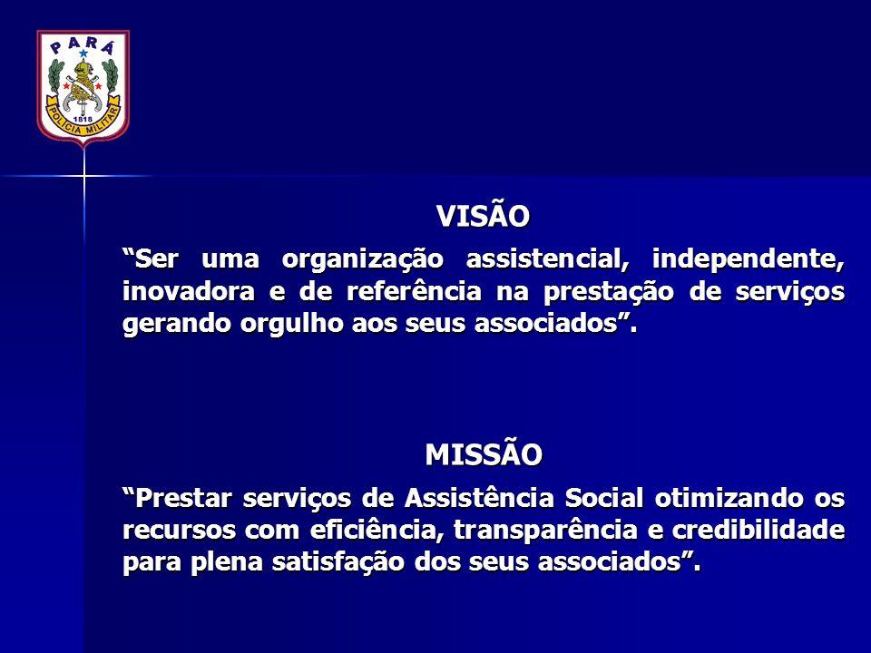 """VISÃO """"Ser uma organização assistencial, independente, inovadora e de referência na prestação de serviços gerando orgulho aos seus associados"""". MISSÃO"""