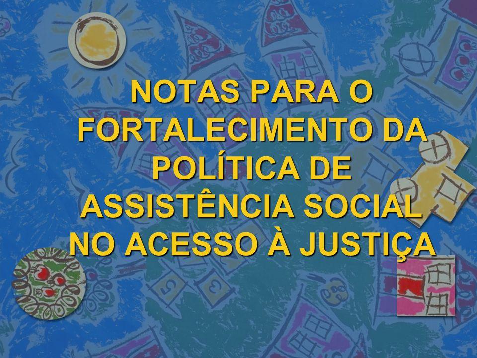 A Assistência Social e a Defensoria dentro da Resolução Nº.