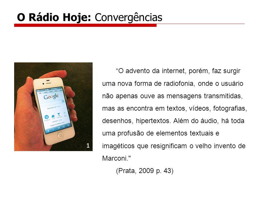 O advento da internet, porém, faz surgir uma nova forma de radiofonia, onde o usuário não apenas ouve as mensagens transmitidas, mas as encontra em textos, vídeos, fotografias, desenhos, hipertextos.