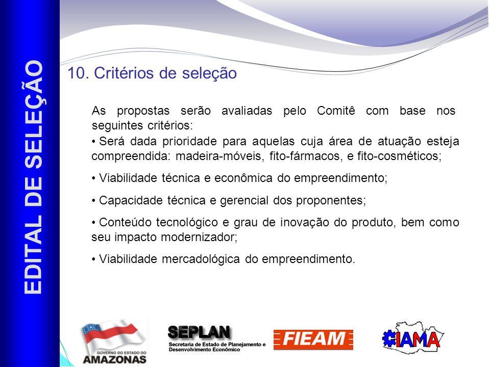 EDITAL DE SELEÇÃO 10.