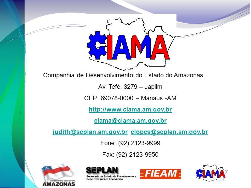 Companhia de Desenvolvimento do Estado do Amazonas Av.