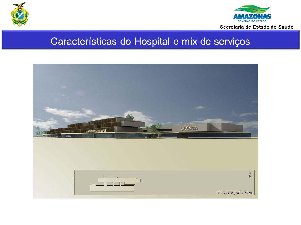 Características do Hospital e mix de serviços Secretaria de Estado de Saúde