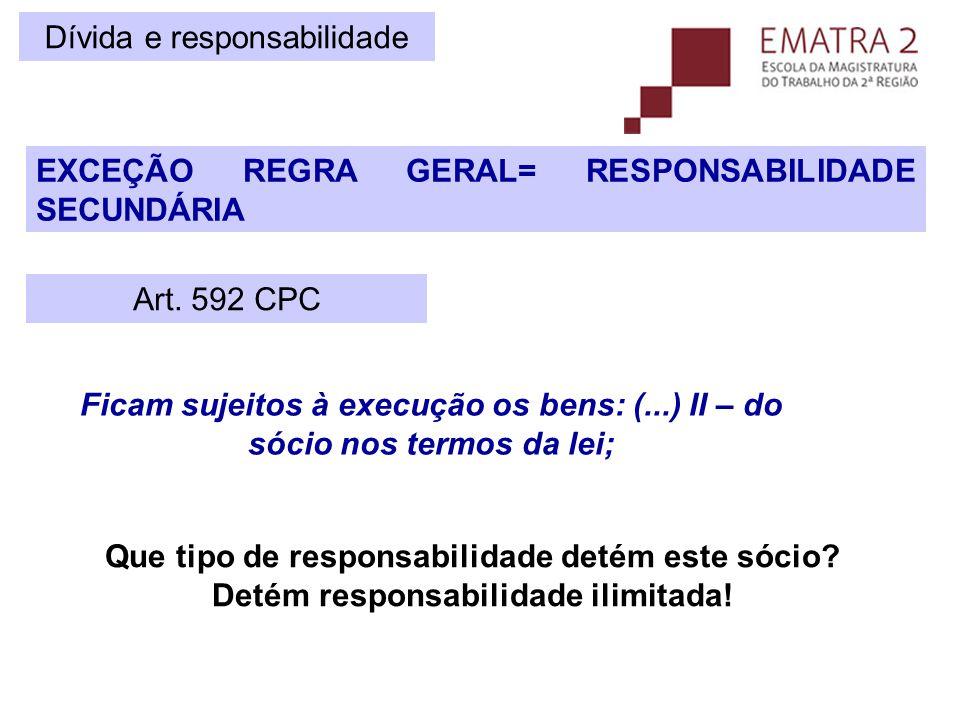Desconsideração da personalidade jurídica  A desconsideração da personalidade jurídica em LIMITADAS insolventes funciona como um redistribuição forçada de riscos, que é feita pelo juiz.
