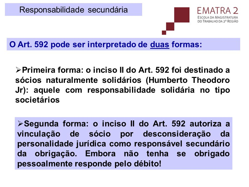Desconsideração da personalidade jurídica Execução trabalhista Art.