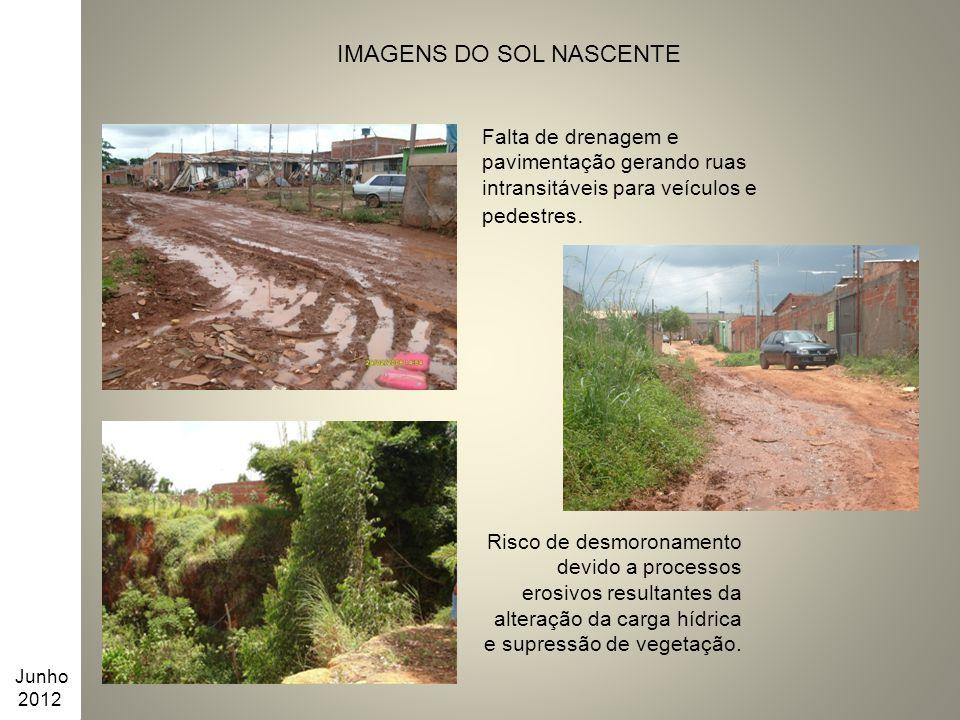IMAGENS DO SOL NASCENTE Risco de desmoronamento devido a processos erosivos resultantes da alteração da carga hídrica e supressão de vegetação. Junho
