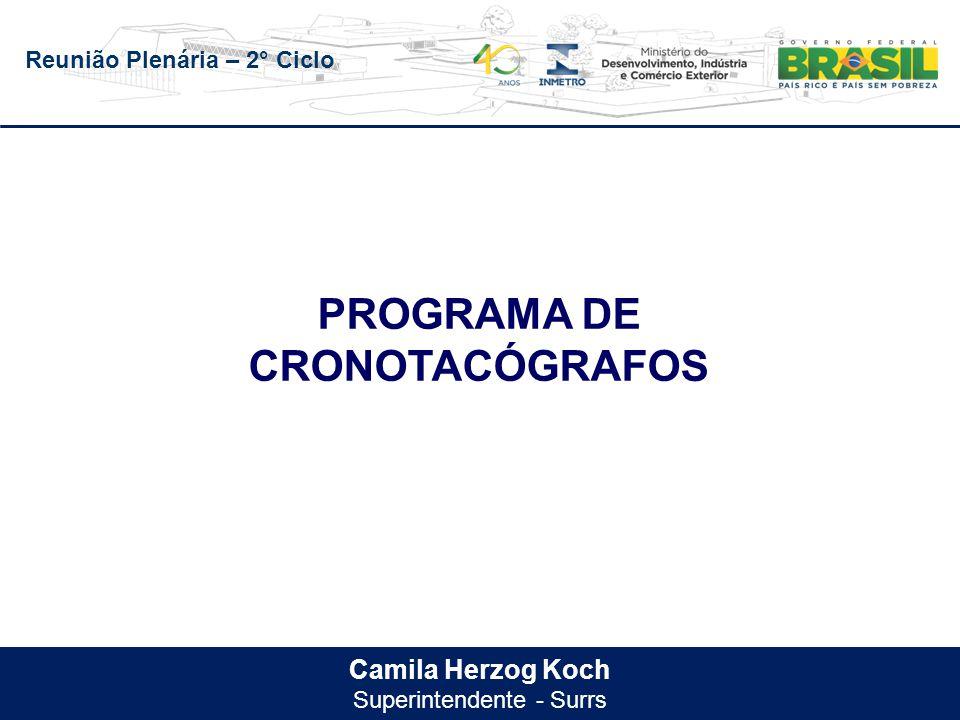 Reunião Plenária – 2° Ciclo Camila Herzog Koch Superintendente - Surrs PROGRAMA DE CRONOTACÓGRAFOS