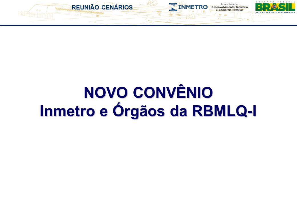 REUNIÃO CENÁRIOS NOVO CONVÊNIO Inmetro e Órgãos da RBMLQ-I