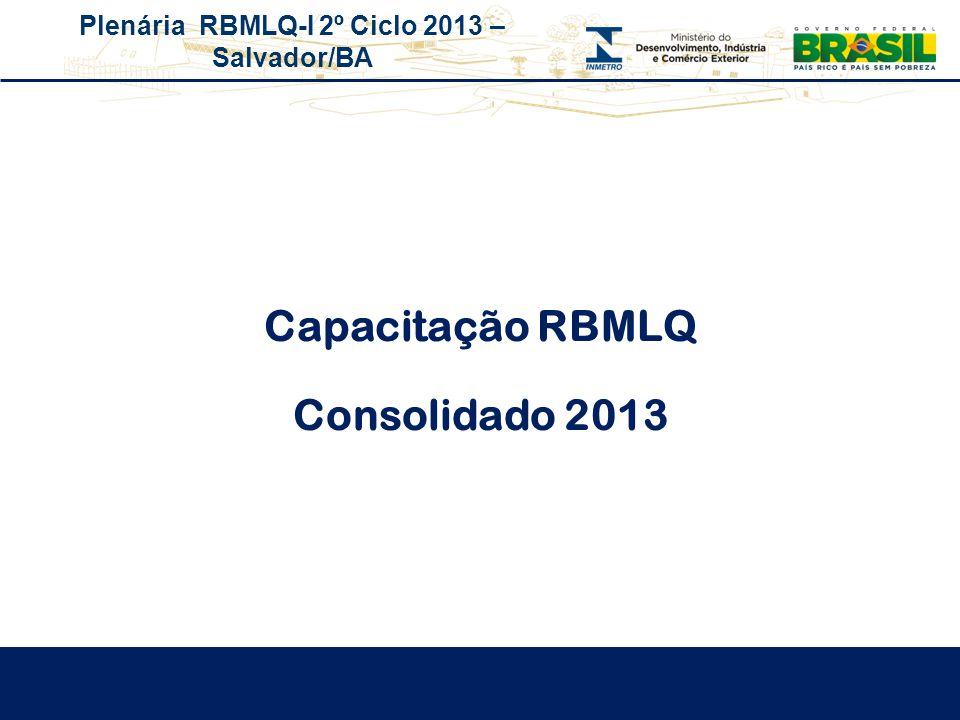 Plenária RBMLQ-I 2º Ciclo 2013 – Salvador/BA Capacitação RBMLQ Consolidado 2013