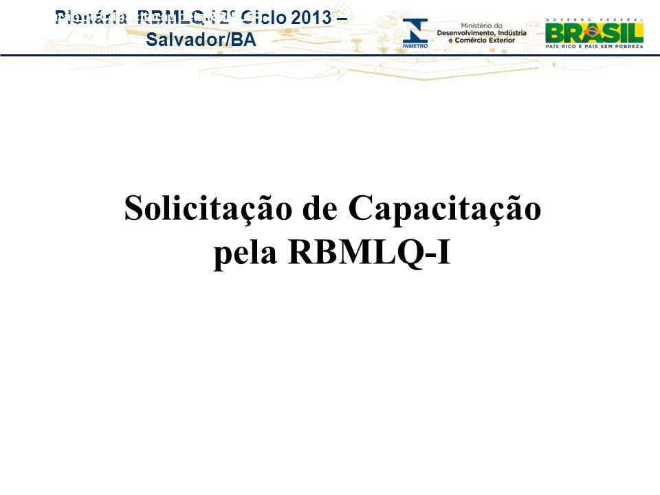 Solicita ç ão de Capacita ç ão pela RBMLQ-I
